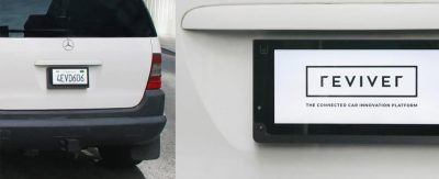 Digital signage powers license plates