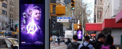 Los quioscos de LinkNYC ayudan a aumentar los números de la taquilla de Avengers